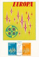 D34883 CARTE MAXIMUM CARD FD 1972 NETHERLANDS - EUROPA CEPT - TWO STAMPS CP ORIGINAL - Europa-CEPT