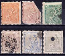 ESPAGNE - ESPANA  1° REPUBLIQUE - 1873 - Numéros 130 à 137 - 6 Timbres Anciens Oblitérés - Oblitérés