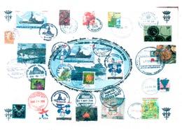 PORTE HELICOPTERES JEANNE D'ARC Carte GEAOM 2009-2010 (dernière Campagne) Format A4 - Poste Navale