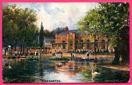 Crefeld Tiergarten - Kiosque - Cygne - Künstler Charles F. FLOWER - RAPHAEL TUCK & Sons OILETTE - 1919 - Oberstdorf