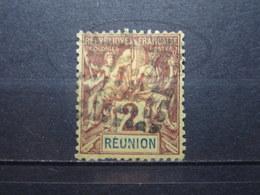 VEND TIMBRE DU REUNION N° 33 , CACHET LOSANGE DE POINTS !!! - Reunion Island (1852-1975)