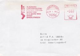 Sport Cover:  Germany 1980 Sindelfingen Machine Cancel Athletics XI. Europa Leichtathletik-Hallemmeisterscha   (DD20-40) - Athlétisme