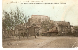 Cp 07 La Voulte-sur-Rhone - Place De La Caisse D'épargne - La Voulte-sur-Rhône