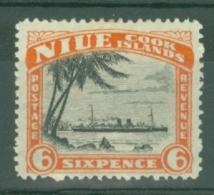 Niue: 1932/36   Pictorial (insc. Niue Cook Islands)  SG67    6d    MH - Niue