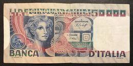 50000 LIRE Volto Di Donna 23 10 1978  LOTTO 2154 - [ 2] 1946-… : Repubblica