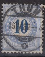 SUISSE TAXE 1878   LE 10c Bleu (ZNr 5IIN) Oblitéré Du 15.IV.82 à Thun, TTB - Portomarken
