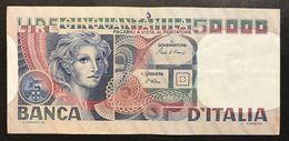 50000 Lire Volto Di Donna 11 04 1980  LOTTO 2155 - [ 2] 1946-… : Repubblica