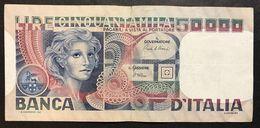 50000 Lire Volto Di Donna 11 04 1980  LOTTO 2159 - [ 2] 1946-… : République