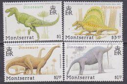 Montserrat  N° 780 / 83 XX Centenaire De La Mort De SirRichard Owen, Dinosaures,les 4 Valeurs Sans Charnière, TB - Montserrat