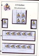 Belgie 2460 FLUOR Buzin Vogels Birds Feuille De Collection Numéro De Planche Plaatnummer Drukdatum - 1985-.. Oiseaux (Buzin)