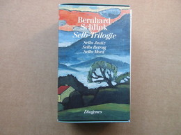 Selb - Trilogie, Selbs Justiz, Selbs Betrug, Sels Mord (Bernhard Schlink) éditions Diogenes De 1975 - Livres, BD, Revues