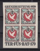 SUISSE POSTE MILITAIRE 1939:    La Colombe De Bâle En Bloc De 4, 'le Rêve De Tout Philatéliste' ...., TTB - Poste Militaire