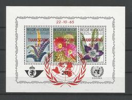Belgium 1965 Thanksgiving S/S Privé  OCB BF PR142 ** - Blocks & Sheetlets 1962-....