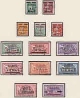 France Memel 1922/23 Overprint US. 65/76 - Memel (1920-1924)