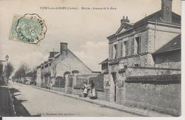 D45 - VITRY AUX LOGES - MAIRIE - AVENUE DE LA GARE - Femme Et Enfants Près De La Grille - France