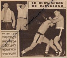 DOCUMENT, BOXE, PIERRE LANGLOIS - ROCKY CASTELLANI, CLEVELAND, JEAN BRETONNEL, COUPURE REVUE (1953) - Boxe