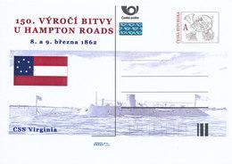 Rep. Ceca / Cart. Postali (Pre2012/14) 150 ° Anniversario Della Battaglia Di Hampton Roads (1862) - CSS Virginia - Buste