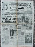 Journal L'Humanité (24 Déc 1960) L Riefenstahl - Belgique - NON Au Référendum - Brigitte Bardot - Pascale Petit - Kranten
