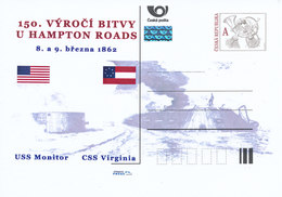 Rep. Ceca / Cart. Postali (Pre2012/15) 150 ° Ann. Della Battaglia Di Hampton Roads (1862) - USS Monitor, CSS Virginia - Buste