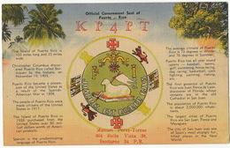 Official Government Seal QSL Card Used From San Juan  To Central Washington Las Villas Cuba - Puerto Rico