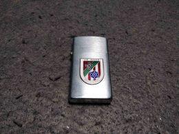RARE VINTAGE LIGHTER BRIQUET NO ZIPPO PENGUIN W/ US MAAG MILITARY ASSISTANCE PORTUGAL - Lighters
