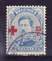 BELGIQUE COB 156 OBL . (4M91) - 1918 Croix-Rouge