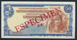 °°° SPECIMEN URUGUAY 50 PESOS 1939 UNC °°° - Uruguay