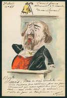 Art ROBERTY Jean Jaurès Accord Franco Allemand 1911 France Politique Caricature Peinte A La Main Carte Postale CPA - Satiriques
