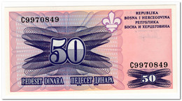 BOSNIA & HERZEGOVINA,50 DINARA,1995,P.47,UNC - Bosnia Erzegovina