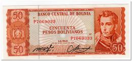 BOLIVIA,50 PESOS BOLIVIANOS,L.1962,P.162a,AU - Bolivia