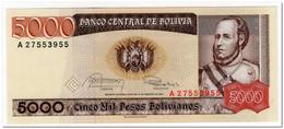 BOLIVIA,5 000 PESOS,1984,P.168,UNC - Bolivia