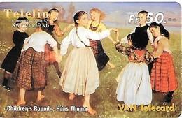 """Prepaid: Teleline VAN - Gemälde """"Children`s Round"""", Hans Thoma - Schweiz"""