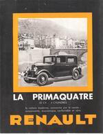 RENAULT :- Encart Publicitaire Concernant La PRIMAQUATRE (pages Doubles) - Old Paper