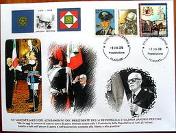 ITALIA ITALY 2018 SANDRO PERTINI Busta Grande Fdc Carabinieri Corazzieri UNIQUE PEZZO UNICO - F.D.C.