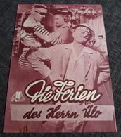 """Altes IFK-Filmprogramm - JACQUES TATI In """"Die Ferien Des Herrn Ülo"""" Mit Louis Perrault, Lucien Fregis ... - 181728 - Magazines"""