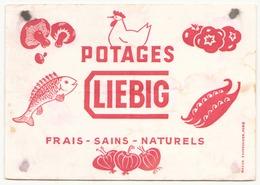 Buvard  ( 20 X 14.5 Cm ) Liebig Potages ( Pliures, Auréoles, Taches ) - Potages & Sauces