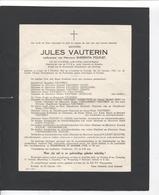 FP5/ Kortrijk-Courtrai Mijnheer Jules Vauterin Weduwnaar Van Mevrouw Emerentia Polfliet 1953 - Décès