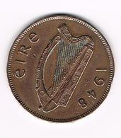 =&   IERLAND  1 PENNY  1948 - Irlande