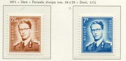 PIA -BELG-1971 : Uso Corrente - Re Baldovino - (Yv  1574-75) - Nuevos