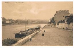 CPA : NAMUR La Meuse à JAMBES , Péniche Et Quai De Meuse - Namur