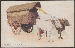 A Double Bullock Cart, Ceylon, C.1910 - Plâté Postcard - Sri Lanka (Ceylon)