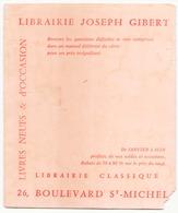 Buvard  ( 20 X 16 Cm ) Papeterie Joseph Gibert ( Pliures, Taches ) - Stationeries (flat Articles)