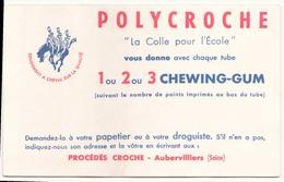Buvard  ( 21 X 13.5 Cm ) Polycroche La Colle Pour L'école ( Pliures, Auréoles ) - Stationeries (flat Articles)