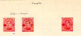 1918,  Belgique Albert 1er  Surchargé Croix-Rouge, Variétés,variétés, 153* Cote 45 €, - 1915-1920 Albert I