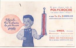 Buvard  ( 21 X 13.5 Cm ) Polycroche La Colle Pour L'école ( Pliures, Auréoles, écritures ) - Stationeries (flat Articles)