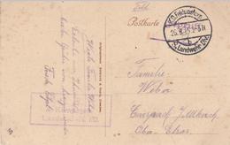 CP Obl K.D.Feldpostexped / 8. Landwehr Div Du 26.9.15 + Cachet 4. Kompagnie / Landw I.R 110 Pour Carspach - Guerre De 1914-18