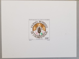 COTE D'IVOIRE, Mains, Main, Hand, Mano. Journee Mondiale De L'alimentation Yvert 592 Epreuve De Luxe - Against Starve