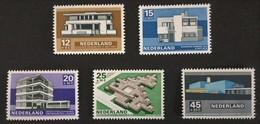 1969 Sommermarken-Bauten Der Modernen Niederländischen Architektur Mi.915-919**) - Ungebraucht