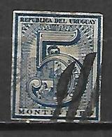 URUGUAY    -  1866 .  Y&T N° 30 Oblitéré. - Uruguay