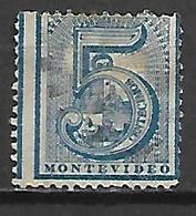 URUGUAY    -  1872 .  Y&T N° 35d Oblitéré. - Uruguay